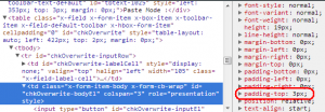 Chrome Inspect Element