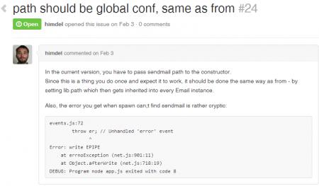 github-node-email