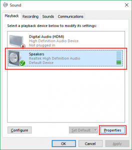 how to add a playback device on windows 10